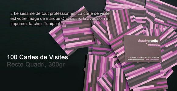 100 Cartes De Visite Impression Couleurs Sur Du Papier 300gr Couche Mat