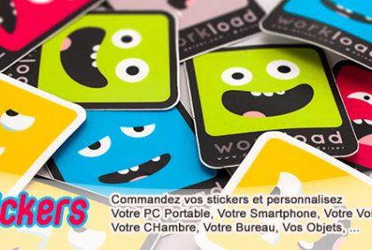 Stickers en vynile autocollant blanc ou transparent avec découpe plotter